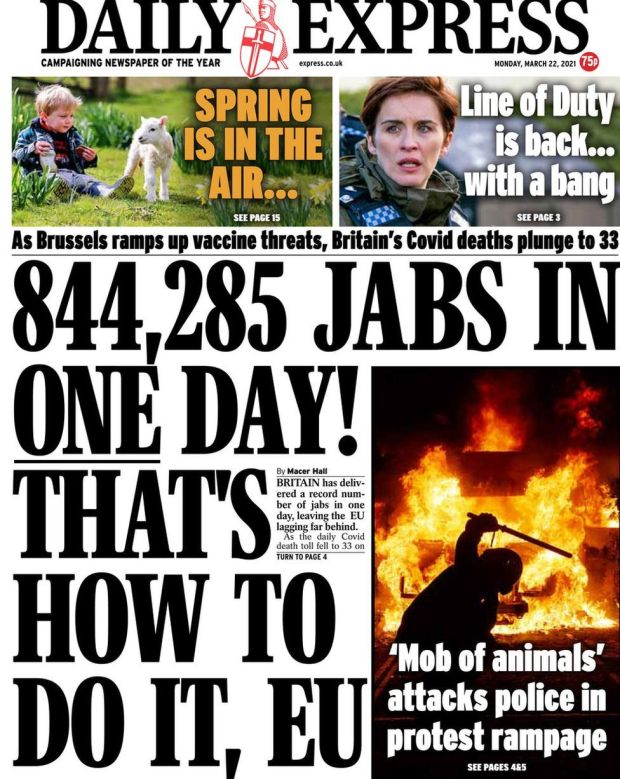 The Daily Express 22 March