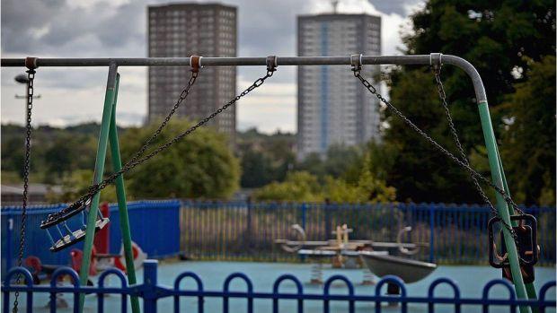 An unused playground in Glasgow