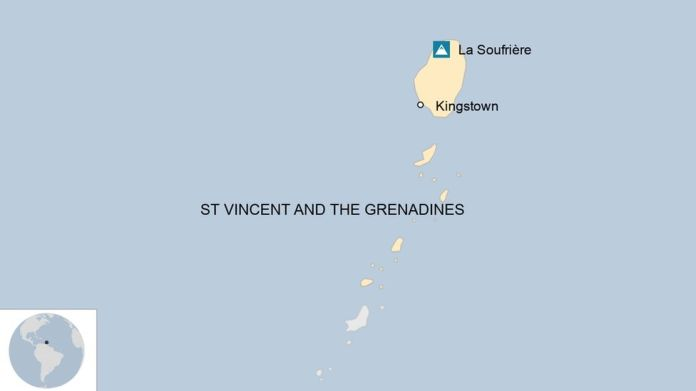 Map of St Vincent