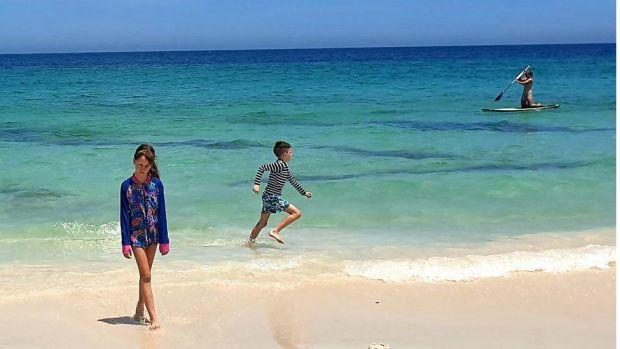 Eimear's children on Trigg Beach
