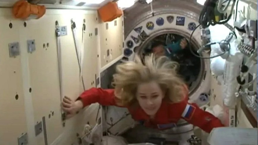 The hatch was eventually opened and Peresild and her fellow crew members entered the ISS