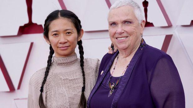 Chloe Zhao and Charlene Swankie at the Oscars