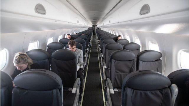 British Airways plane interior