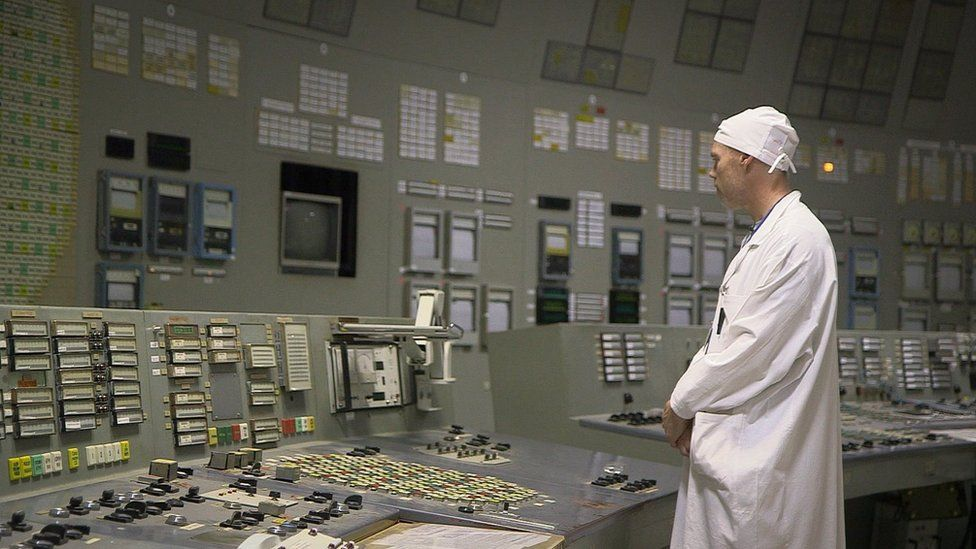 Scientist inside Chernobyl Nuclear Power Plant