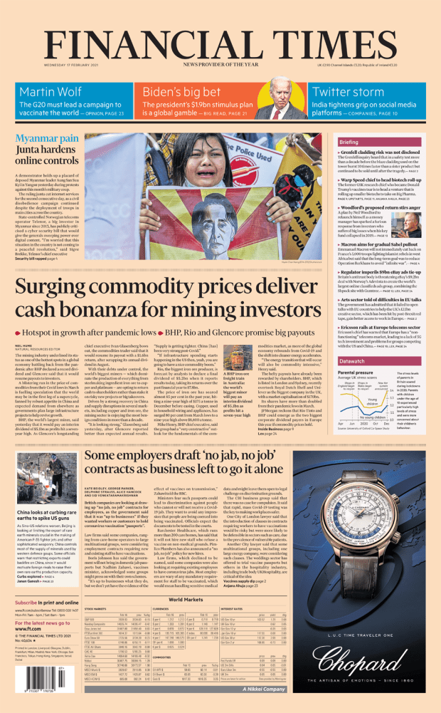 Financial Times 17 February 2021