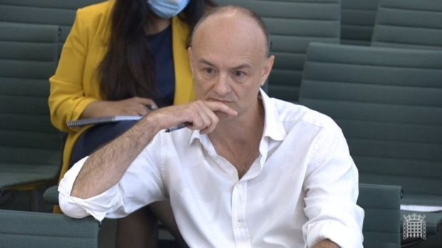 Dominic Cummings in Parliament