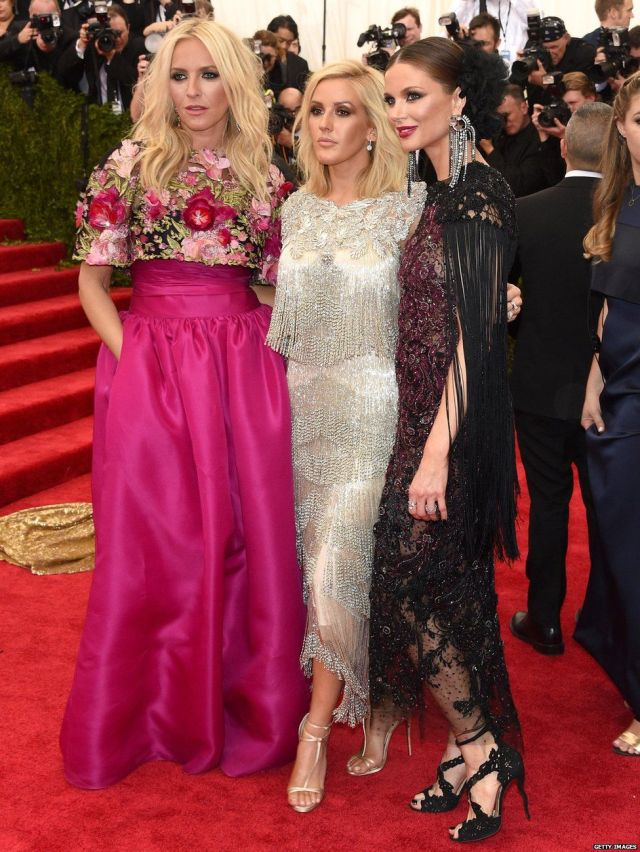 Keren Craig, Ellie Goulding and Georgina Chapman