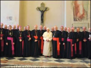 Papa y obispos irlandeses