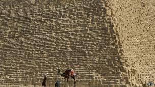 Detalle de una de las pirámides de Egipto