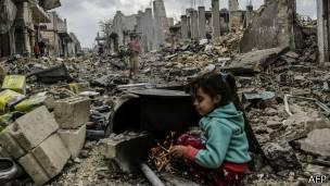 Niña en Kobane