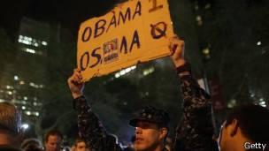 Manifestación tras el anuncio de la muerte de Bin Laden