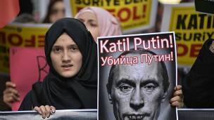 Protesta contra Putin en Turquía