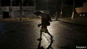 Imagen del huracán Patricia en México