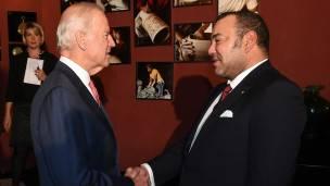 El vicepresidente de EE.UU., Joe Biden, y el rey de Marruecos, Mohammed VI.