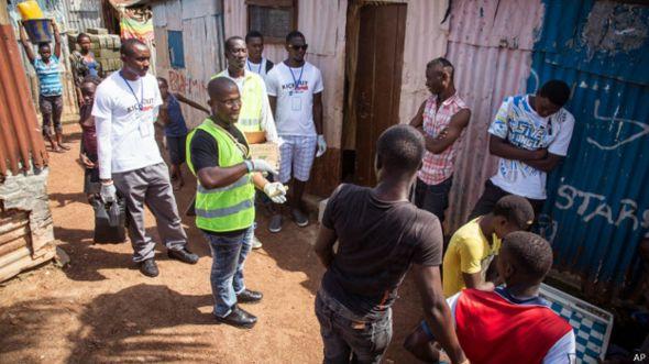 Voluntarios de salud en Sierra Leona