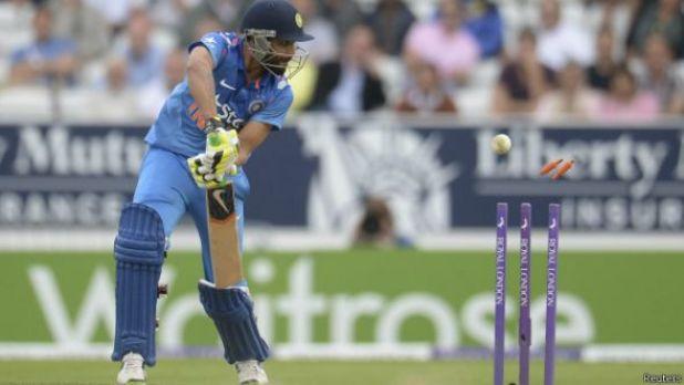 Jugador de cricket en India.