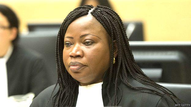Faotu Bensouda, fiscal principal de la Corte Penal Internacional