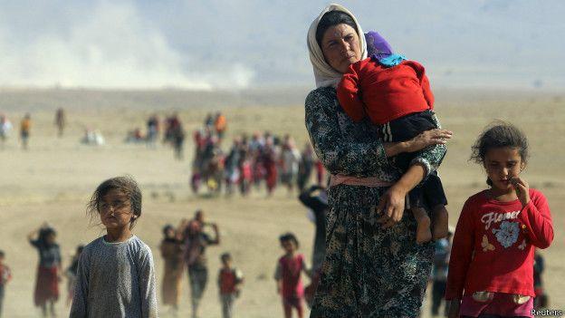 Yazidíes refugiados