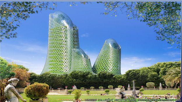 La torre producirá biocombustible.