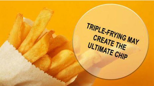 Üçlü kızartma yöntemi ile en iyi patates kızartmasına ulaşılabilir.