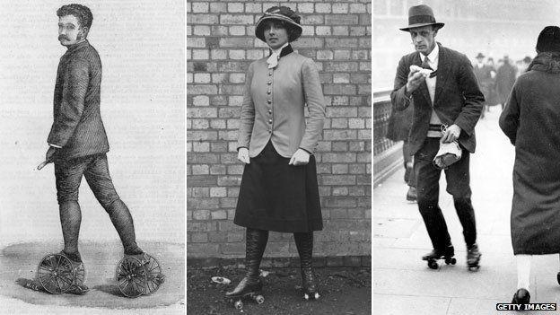 Patinando en 1882, 1912 y 1926...
