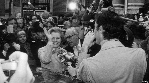 Margaret Tatcher, primer ministro de Reino Unidos