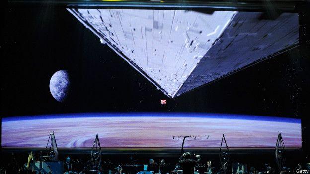 Imagen del naves en el espacio de la guerra de las galaxias