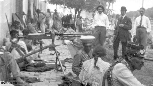Tropas revolucionarias en Torreón, Coahuila, en 1911. Foto: cortesía archivo Harold Miller