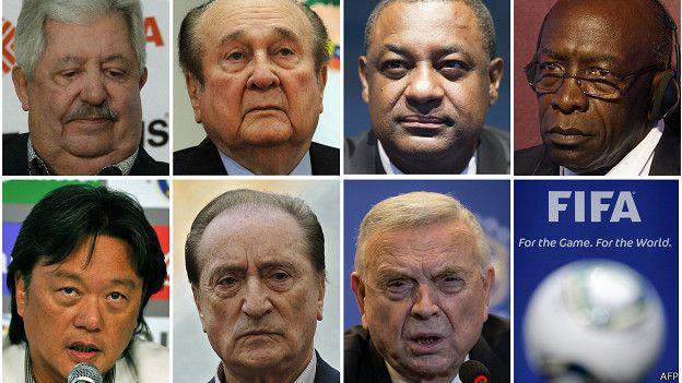 Арестованные чиновники ФИФА