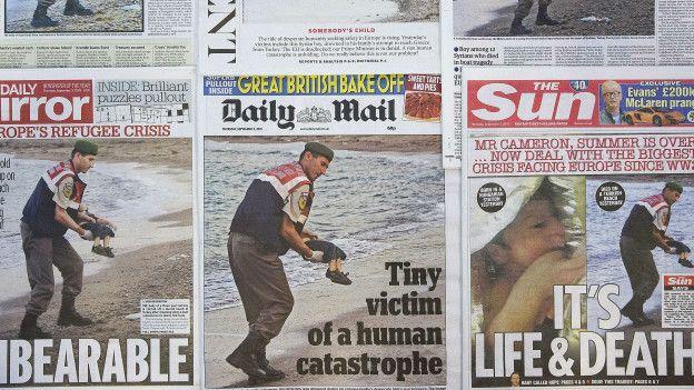 Portadas de los periódicos británicos