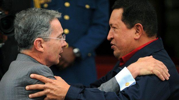 Álvaro Uribe, Hugo Chávez