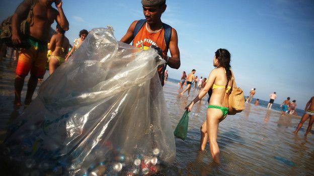 Reciclando latas en Brasil