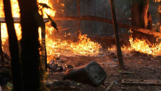 Laboratorio destruido en Norte de Santander