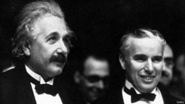 Albert Einstein y Charlie Chaplin
