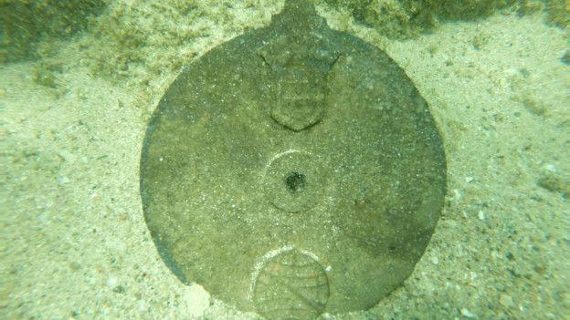 Un disco de aleación de bronce.