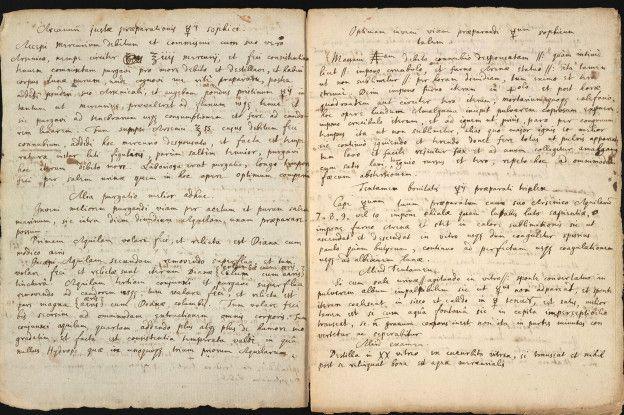 La receta que revela la fórmula para la inmortalidad de Isaac Newton