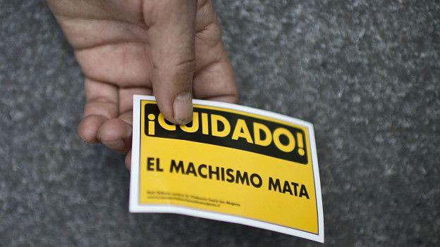 Cartel contra la violencia machista en Chile