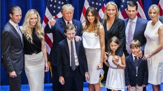 特朗普与家人