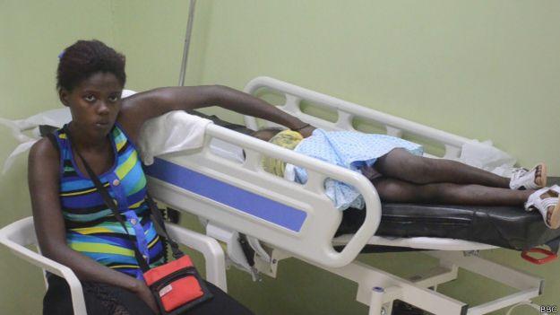 Paciente en el Hospital Juan Pedro Peña