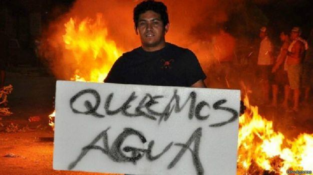 Protesto contra a crise da água em Itu / Crédito: Divulgação