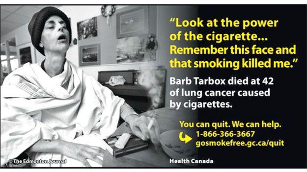 Campaña contra el tabaco en Canadá