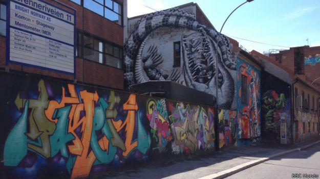 Grafite em Oslo | Foto: BBC Mundo