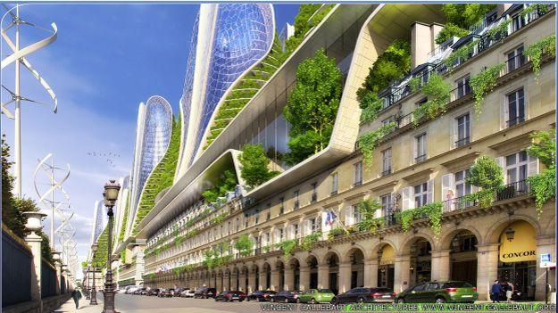 Así quedaría la famosa Rue Rivoli, frente al Museo del Louvre y el Jardín de las Tullerías.