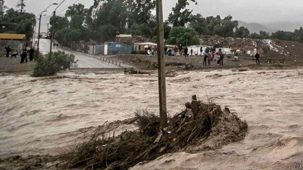 Inundaciones en Copiapó, Chile