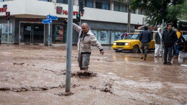 Chile inundación en Copiapó