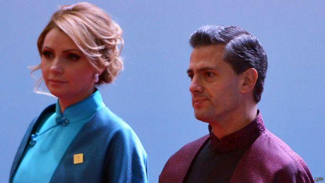 Peña Nieto y esposa