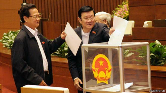 Lấy phiếu tín nhiệm ở Quốc hội Việt Nam