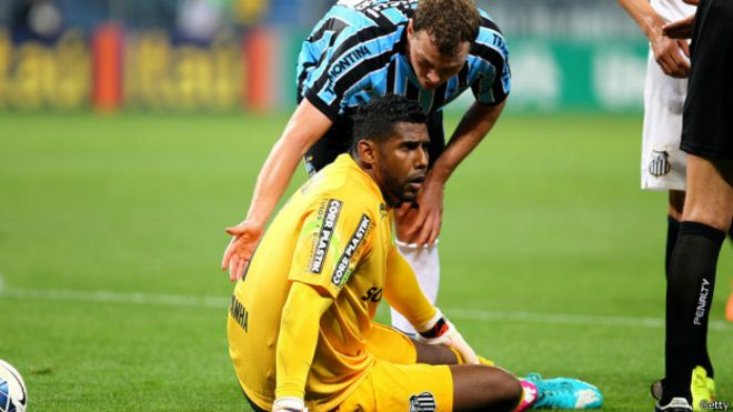 Aranha foi alvo de ofensas racistas em jogo contra o Grêmio / Crédito: Getty