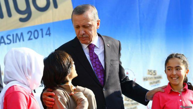 Эрдоган с детьми