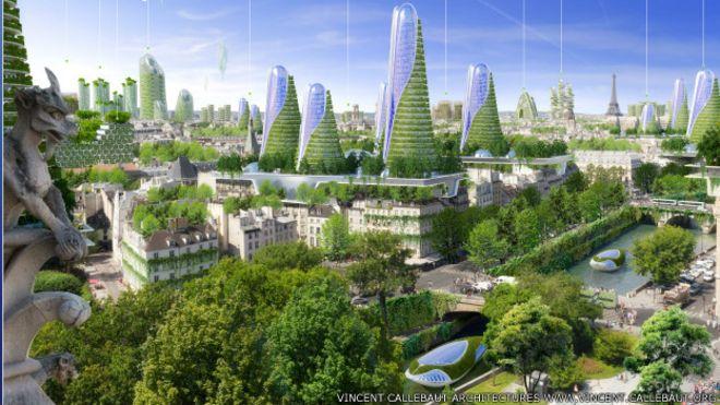 Torres inteligentes con viviendas ecológicas que atrapan la contaminación, ésa es la propuesta de Vincent Callebaut.